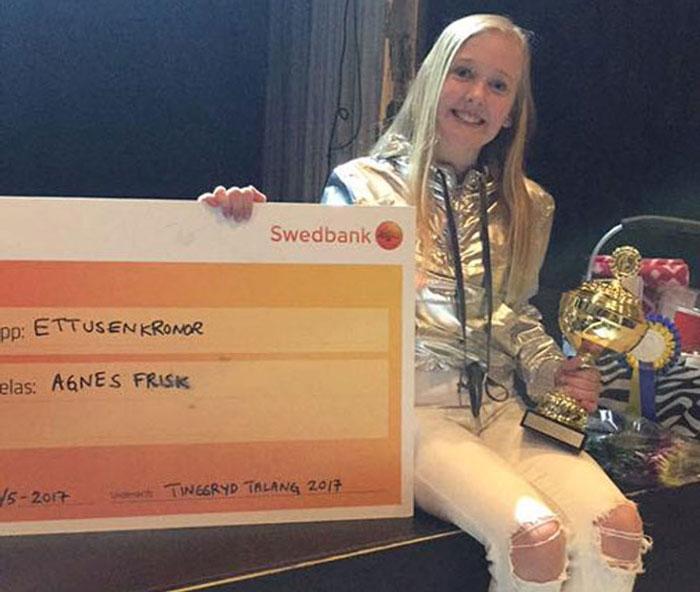 Agnes Frisk vann talangjakt i Tingsryd